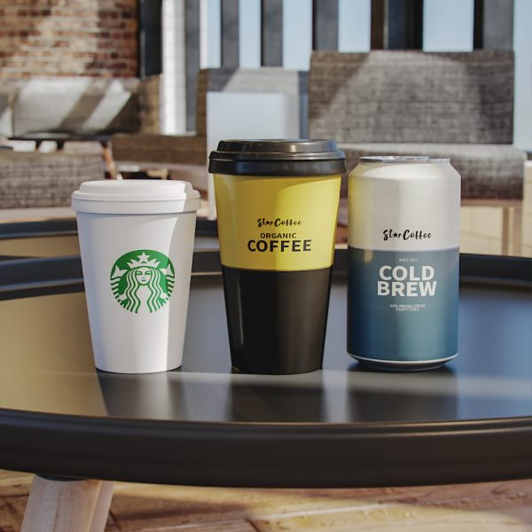 3D coffee starbucks cup 3d render corona vray 3dsmax visualization 3
