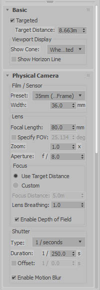 vray camera settings motion blur