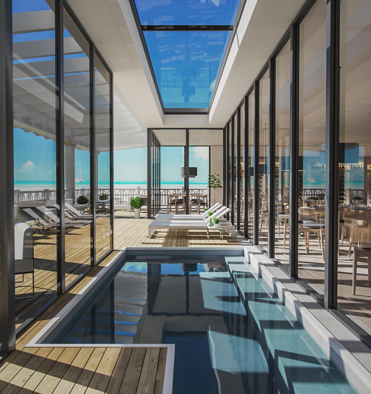 Bistro Beach 3D Interior | Vray & Corona