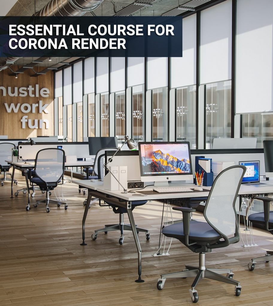 Essential Corona Renderer Course from Zero 3d render interior download feat