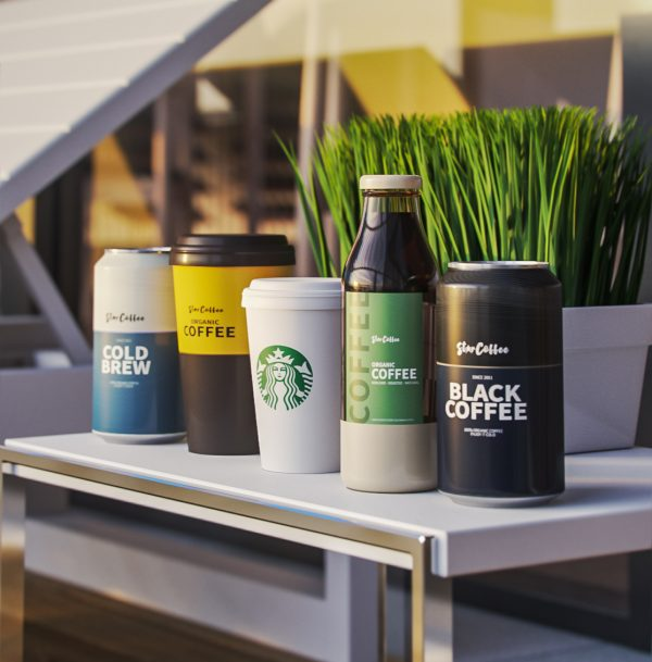 Sunny coffe 3d models