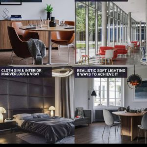 vray archviz course pack 3d scenes realistic interior renders